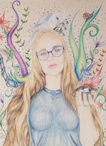 Colored pencil on paper   Chaparral High School