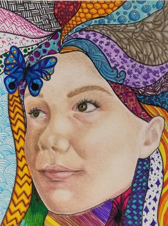 Colored pencil and marker on paper | Chaparral High School