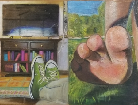 Pastel and colored pencil on paper | Coronado High School